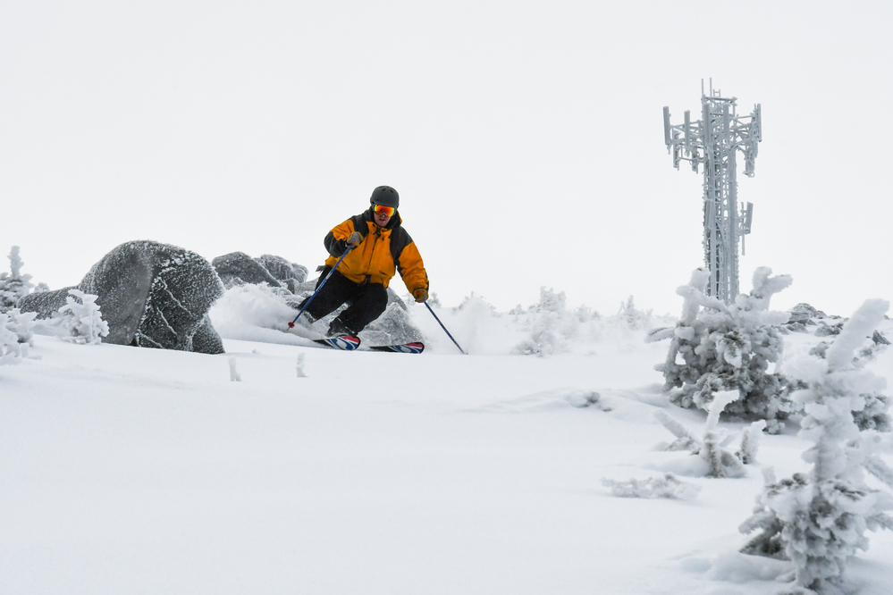 With deepest snow pack in New England, Sugarloaf opens Snowfields
