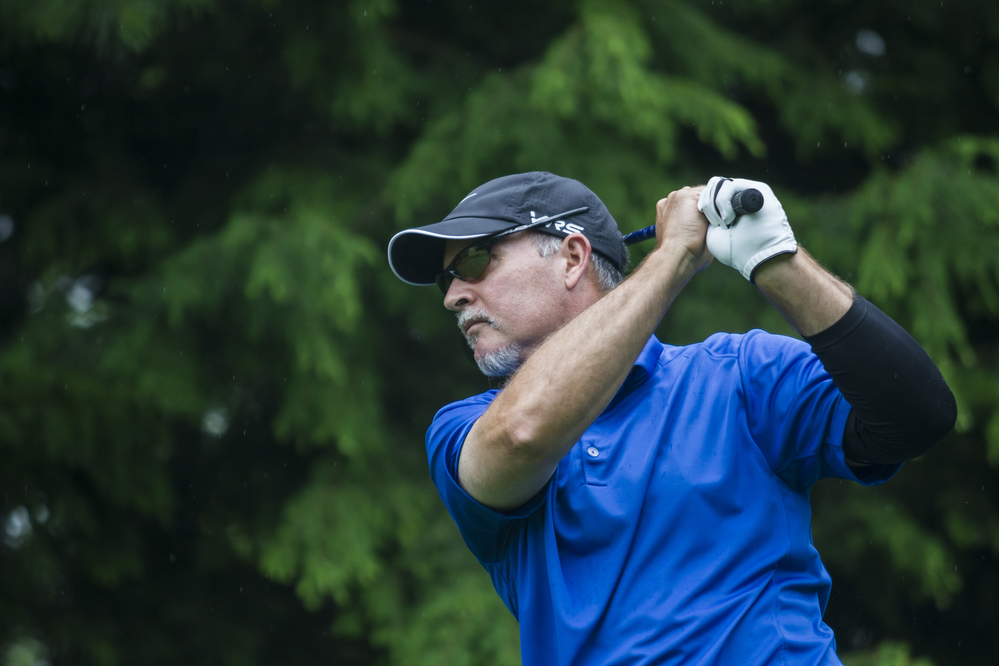 Hickson takes three stroke lead to win his third State of Maine Championship