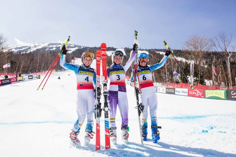 17 Year-old Nina O'Brien earns national title in Giant Slalom at Sugarloaf