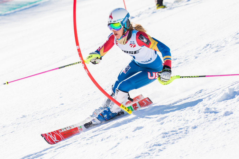 Ginnis and Stiegler capture slalom titles