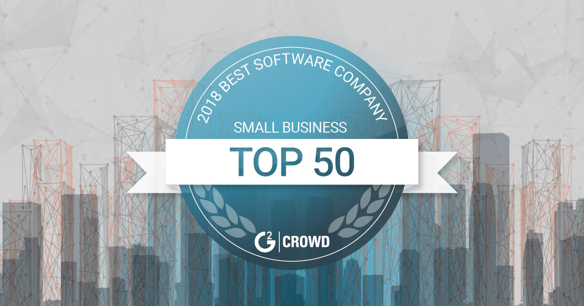 G2 Crowd Top 50 SMB Software Companies
