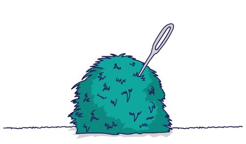 Haystack and needle